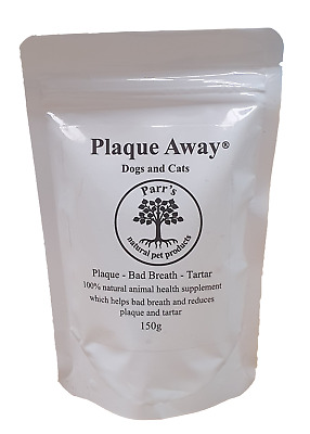 Plaque Away- Dogs & Cats 150g- Bad Breath & Tartar Removal - can improve health
