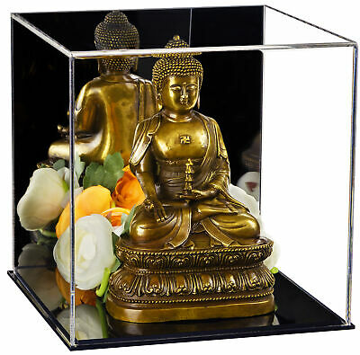 """Versatile Mirrored Display Case, Cube, Dust Cover or Riser 8""""x8""""x8"""" (A059-MDS)"""