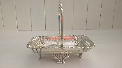 An Antique Silver Plated Handled Footed Dish