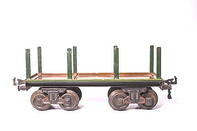 Vintage Pre-War 1-Gauge Bing Wood Carrier Freight Car