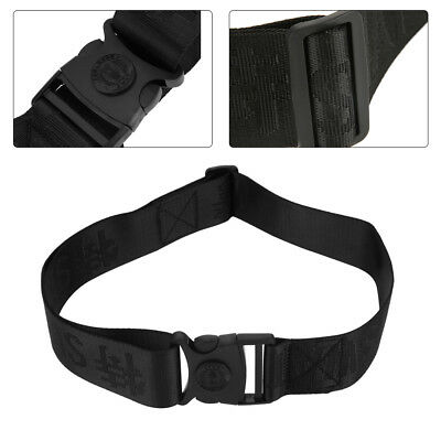 1pcs Durable Heavy Duty Security Guard Police Utility Nylon Belt Waistband Black