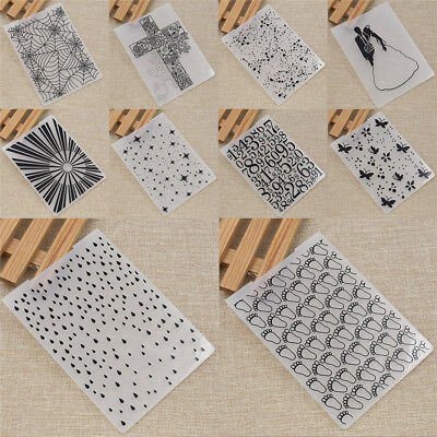 Plastic Embossing Folder Scrapbooking Mold For Paper Decor Template Handcraft
