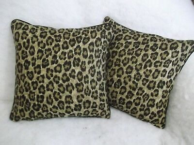 """Caledonia By Ralph Lauren 1 Pair Of 18"""" Cushion Covers - Double Sided & Piped"""
