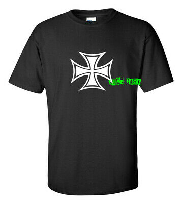 IRON CROSS MALTESE CROSS T SHIRT vintage hot hot rodder biker chopper WWI WWII