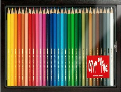 Caran d'Ache Swisscolor Water Soluble Pencils | Case of 30 Assorted Colours