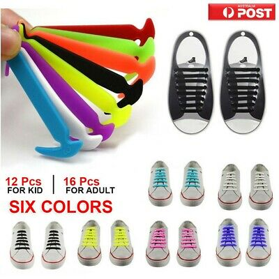 No Tie Elastic Silicone Shoe Laces Shoelaces Sneakers Runners Child/Adult/UniseX