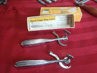 beaver finger ring cutter vintage lot of 2