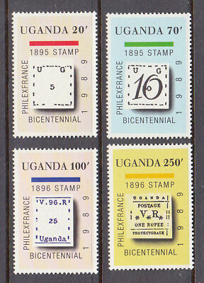 Uganda: Philexfrance '89, Paris, umm set, 1989