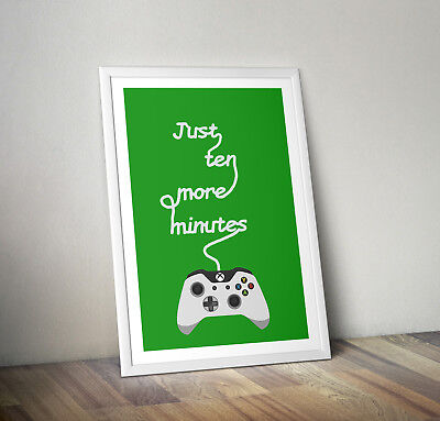 Xbox inspired poster print wall art childrens kids decor gamer gaming room one