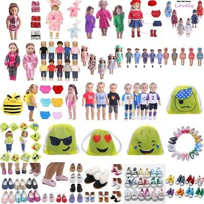 """Doll Clothes Pajames Shoes for 18"""" Funny Girl Our Generation My Life Dolls"""