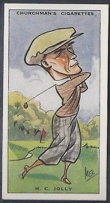 Churchman-Prominent Golf Ers (Standard Size)-#24- Herbert Jolly
