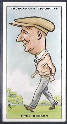 Churchman-Prominent Golf Ers (Standard Size)-#34- Fred Robson