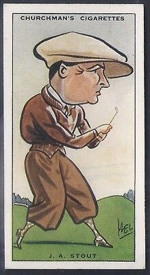 Churchman-Prominent Golf Ers (Standard Size)-#38- Stout