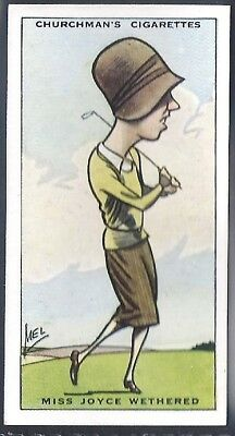 Churchman-Prominent Golf Ers (Standard Size)-#45- Miss Joyce Wethered