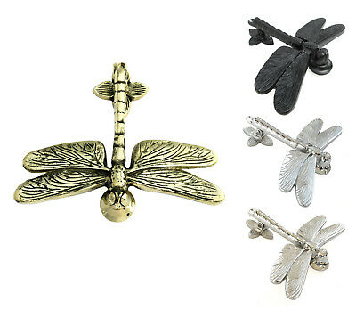Brass, Chrome & Nickel Dragonfly Door Knocker - vintage style animal knockers