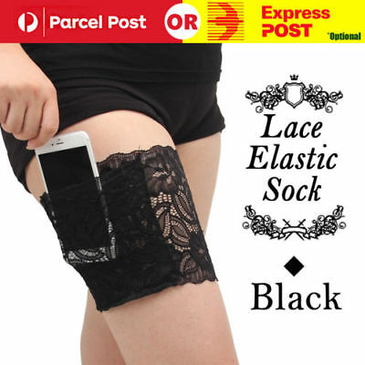 Womens Lace Elastic Socks Non Slip Anti-Chafing Thigh Bands Prevent Leg Warmers
