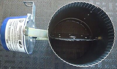 "New 6"" Field Controls Vent Damper Gvd Automatic For 24V Gas Systems. No Wiring H"