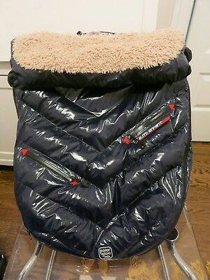 7AM Enfant Polar Igloo Stroller and Car Seat Footmuff Blue Medium PRISTINE COND!