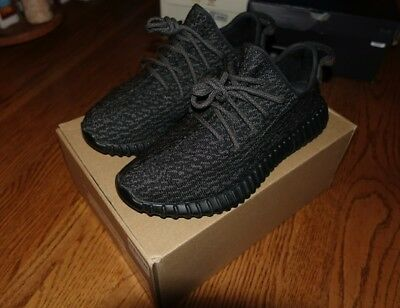 9945e3347541b Adidas Yeezy Boost 350 Pirate Black AQ2659 Size 8 Authentic OG V1 2015