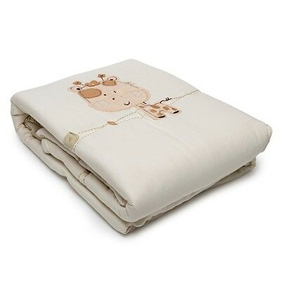 Natures Purest 'Sleepy Safari' Organic Cotton Cot/Cot Bed Quilt