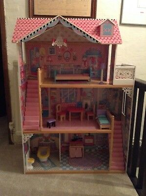 U0027Early Learning Centre U0027 Wooden Dolls House Mansion With Furniture