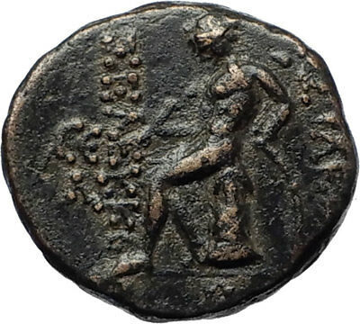 SELEUKOS III Keraunos 225BC Seleukid Ancient Greek Coin ARTEMIS & APOLLO i69442