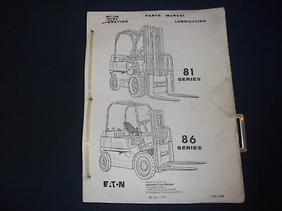 yale g82p series forklift lift truck service parts manual book rh picclick com Yale Forklift Clutch Replacement Yale Forklift Models