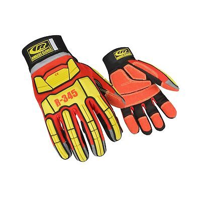Ringers Gloves 345 Rescue Gloves, Firefighter Extrication Gloves, Medium Red