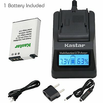 EN-EL12 Battery or Fast Charger for Nikon Coolpix S31 S70 S610 S620 S630 S640