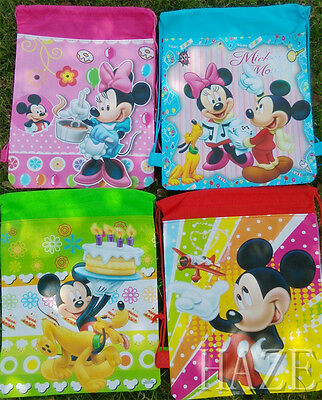 Disney Mickey Minnie Non-Woven Drawstring Bag Backpack For Kids Gift SPP