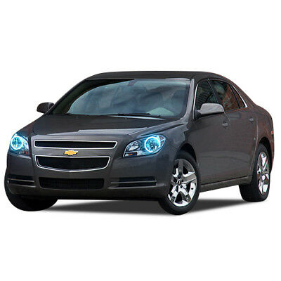 Bright Blue LED Headlight Halo Ring Kit for Chevrolet Malibu 08-12