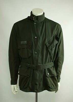 Barbour SMU International Waxed Motorcycle Jacket Olive ( Size L / C44 / 112CM )