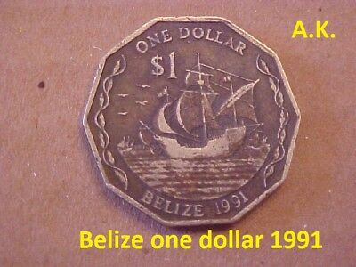 Belize one dollar 1991