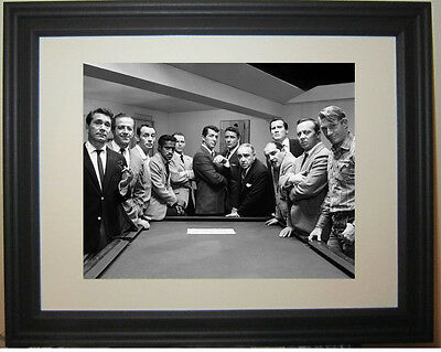 Rat Pack Dean Martin Frank Sinatra Ocean's Eleven Framed Photo Picture