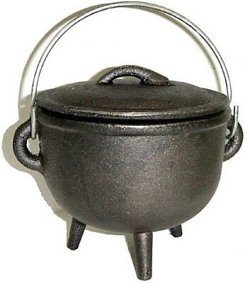 Cast Iron Cauldron with Lid, 4 1/2 inch #RV-10055