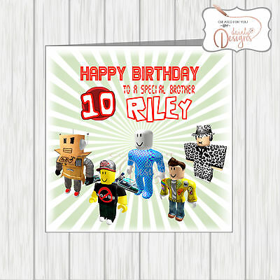 Personalised ROBLOX Birthday Card Age Name Son Grandson Nephew Cousin Daughter