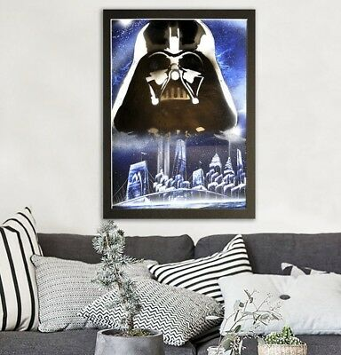 Original spray painting art, hand made Star Wars, Darth Vader in New York