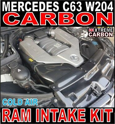Mercedes C Class C63 Xtreme Carbon Cold Air Ram Intake Kit W204 6.3 V8 Only