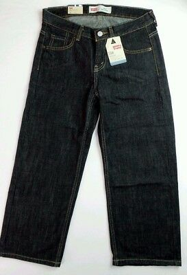 Levi's 550 Boys Jeans Husky 8 28x23 16 34x28 Black Relaxed Fit Pants Cotton New