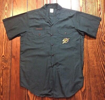 """VINTAGE 60s BOY SCOUTS of AMERICA EXPLORERS B.S.A. DARK GREEN SHIRT Chest 41-42"""""""