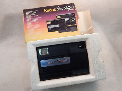 BOXED Vintage Kodak Disc 3600 Camera with Built-In Flash GUARANTEED