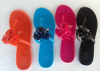 9fb9d3de3 Tory Burch Blossom Jelly Thong Sandal Flip Flops Different Sizes and Colors