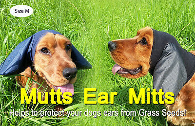 Dogs Ear Protectors. Mutts Ear Mitts Cocker/Springer Spaniel, Ear Covers for Dog