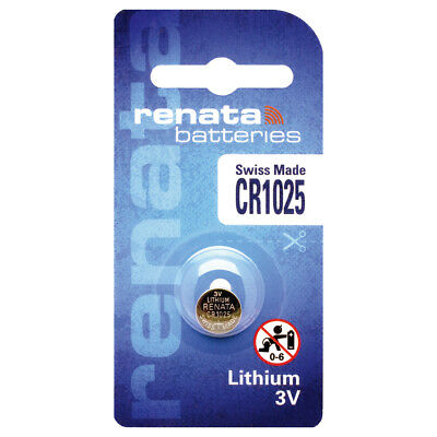 1 x Renata CR1025 3V Swiss Made Lithium Coin cell Battery DL 1025