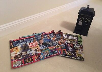 Dr Who Tardis Card Holder With Monster Invasion Cards And Magazines