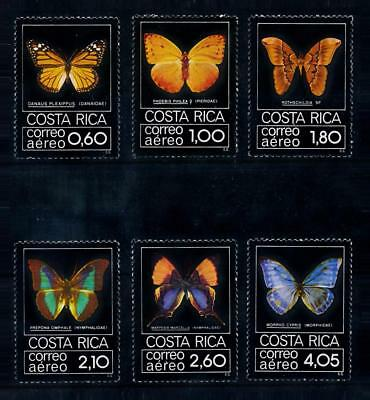 [71162] Costa Rica 1979 Insects Butterflies Airmail Stamps MNH