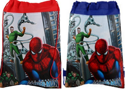 Spiderman Kids Boy Girl Environmental Drawstring bag Swin School PE GYM free
