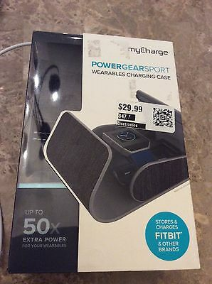 My Charge Power Gear Sport Wearables Charging Gray & Black Case Fitbit Powerbank