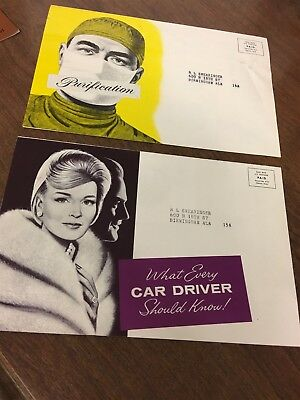 2 Original 1963 Mercury Comet Mail Out Advertising Brochures