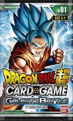 1x Dragon Ball Super TCG - Galactic Battle - Booster Pack - Sealed - Brand New -